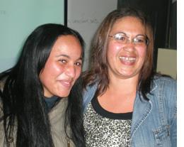 Voluntária Tamires e a mãe Josilene